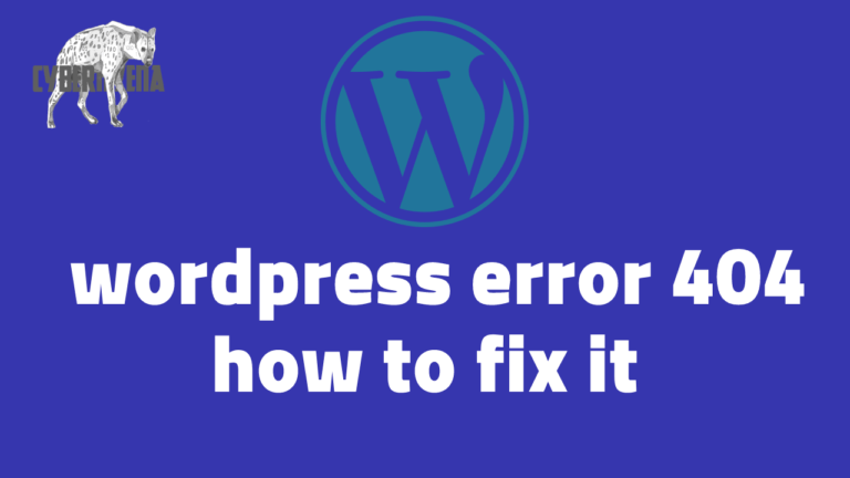 WordPress 404 error not found solution and fix